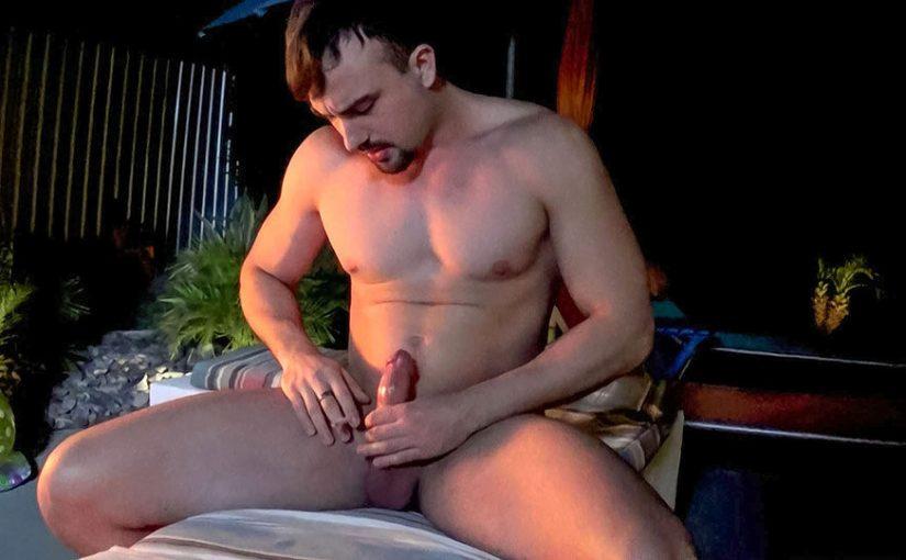Big Guy Mason Smoking In The Garden